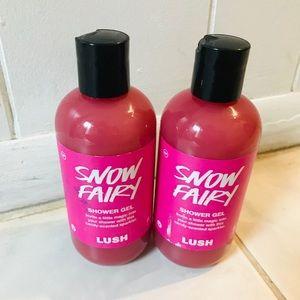 Lush snow fairy shower gels
